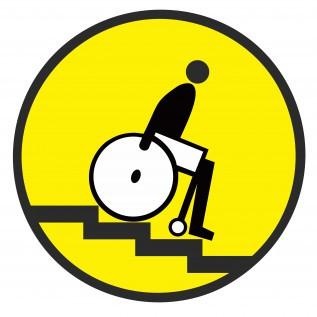 Табличка Осторожно! Лестница вниз