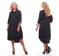 Платье женское Евгения черная, фото 1