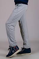 Детские трикотажные штаны спортивные брюки подростковые серые прямые Унисекс Украина 140