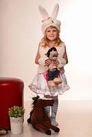 Карнавальный костюм Зайка для девочки 3-7 лет. Детский маскарадный костюм Зайчик Заец Заяц на праздник Осени