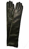 Длинные женские перчатки из экокожи, длина перчаток около 47 см