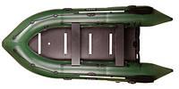 Четырехместная моторная надувная килевая лодка Барк (Bark) BN-330S с жестким днищем