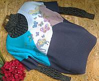 Пуловер джемпер из шерсти 1331 серый 44-52р