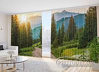 """ФотоШторы """"Лес в горах"""" 2,7*5,0м (2 полотна по 2,5м), тесьма"""