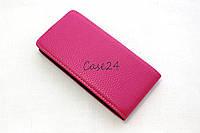 Кожаный флип чехол для HTC Desire 300 (розовый), фото 1