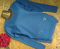 Пуловер джемпер из шерсти 4908 джинс 54-60р