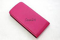 Кожаный флип чехол для HTC Desire 500 (розовый), фото 1