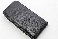Кожаный флип чехол для HTC Desire 500 (черный), фото 1