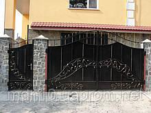 """Ворота кованые, """"растительный"""" орнамент (MS-VKR-004)"""