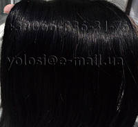 Натуральные волосы для наращивания на капсулах. Черные 80 см