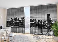 """Фото Шторы """"Бруклинский мост"""" 2,7*5,0м (2 полотна по 2,5м), тесьма"""