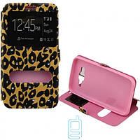 Чехол-книжка стразы Print iPhone 5 #4 леопард