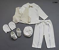 Нарядный костюм для мальчика, в коробке. 0-3 мес