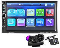 "Автомагнитола 2Din Pioneer 7021B 7"" Экран, Bluetooth, Читает ВИДЕО+ Пульт на руль+Шахта! + КАМЕРА!"