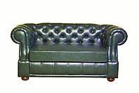 Двухместный диван Честер в искуственной коже
