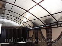 Навесы с поликарбонатным покрытием, фото 1