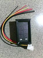 Амперметр вольтметр  автомобильный в корпусе 100В 10А