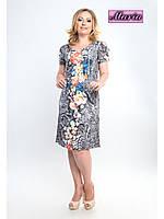 Легкое платье большего размера 48-54 р.