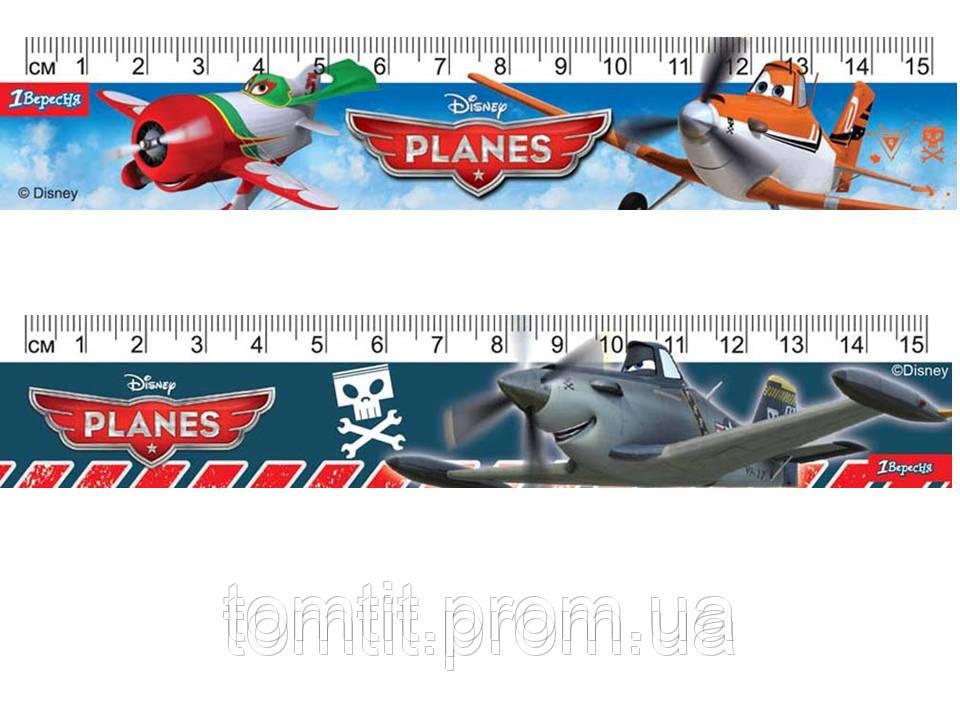 """Линейка пластиковая """"Аэротачки (Самолетики)"""", 15 см, в ассортименте"""