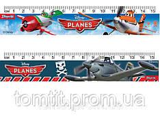 """Лінійка пластикова """"Аэротачки (Літаки)"""", 15 см, в асортименті"""