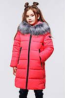 Зимняя куртка для девочки со стежкой в форме звезды.