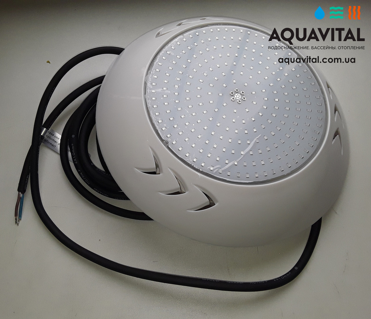 Прожектор светодиодный Aquaviva LED003–252LED (18 Вт) RGB / бетон / лайнер