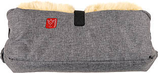 Kaiser - Двойная муфта для рук из натуральной овчины, цвет антрацит меланж