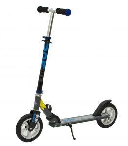"""Двухколёсный самокат Ardis """"Maxi Scooter"""" 9028B алюминиевый с надувными колёсами, Черно-синий"""