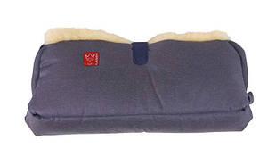 Kaiser - Двойная муфта для рук из натуральной овчины, цвет синий деним