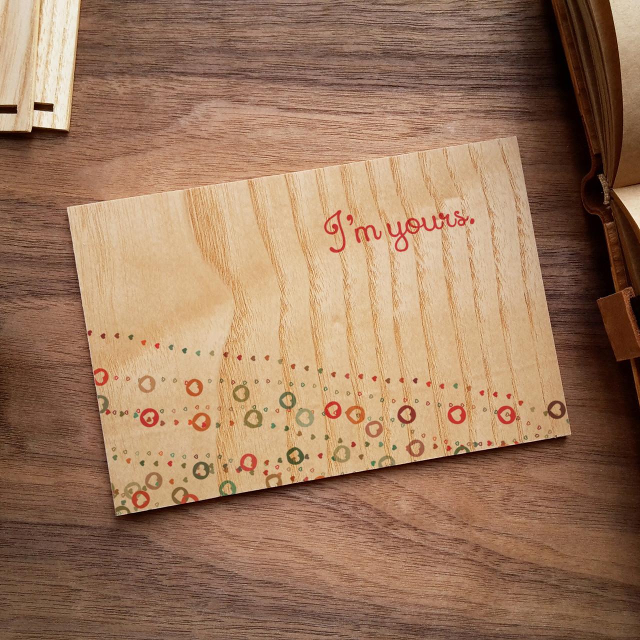 """Деревянная открытка """"I`m Yours"""""""
