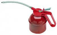 Стальная масленк для  принудительной смазки ,емкость 0,5 л. с гибкой трубкой.