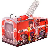 Детская игровая палатка M 3528 Щенячий патруль (PAW patrol) Пожарная машина, фото 1