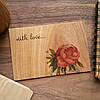 "Деревянная открытка ""With Love"""
