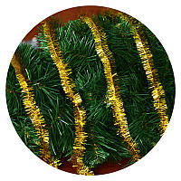Дождик (мишура) 2,5 см (3м) (золотой), фото 1