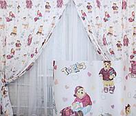 Комплект готовых штор для детской комнаты. Код 141ш