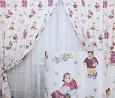 Комплект штор для детской комнаты 141ш (1,5м*2,70м) (У)