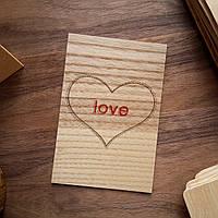 """Деревянная открытка """"Love"""""""