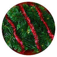 Дождик (мишура) 2,5 см (3м) (красный), фото 1