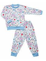 Детская пижама с начесом оптом, фото 1