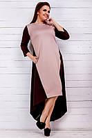 Женское платье-асимметрия с карманами