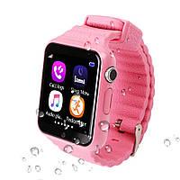 Детские умные часы+Smart watch влагозащита V7K Pink, Bluetooth, камера, музыка, карта памяти! .