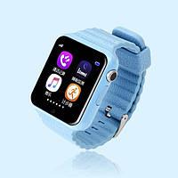 Детские умные часы+Smart watch влагозащита V7K Blue, Bluetooth, камера, музыка, карта памяти! .