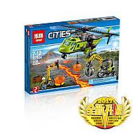 Конструктор LEPIN 02004 CITY - Грузовой вертолет исследователей вулканов (356 дет.)