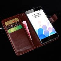 Чехол Idewei для Meizu M5C / Meilan A5 книжка кожа PU коричневый