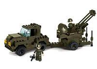Конструктор SLUBAN M38-B7300 армія, військова машина, фігурки, 221 дет., кор., 28,5-24-5,5 см