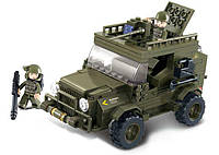 Конструктор SLUBAN M38-B0299 армія, військова машина, фігурки, 221 дет., кор., 29-24-5,5 см, фото 1