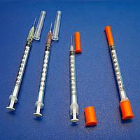 """Шприц""""ALEXPHARM"""" инсулиновый 3-х комп. со съемной иглой, 1 мл  U-100 30 G (0.3*13 мм)"""