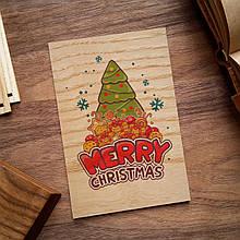 """Деревянная открытка """"Christmas"""""""