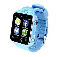 Детские умные часы+Smart watch влагозащита V7K Blue, Bluetooth, камера, музыка, карта памяти! ., фото 4