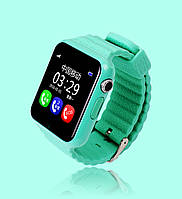 Детские умные часы+Smart watch влагозащита V7K Green, Bluetooth, камера, музыка, карта памяти! .